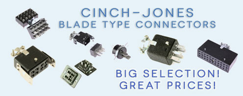 Cinch-Jones Power blade connectors.
