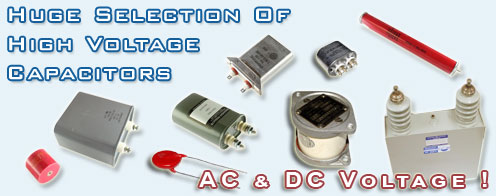 High voltage capacitors.