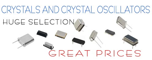 Crystals and crystal oscillators.