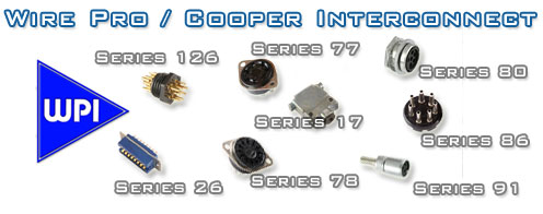 Wire-pro Cooper Amphenol connectors.