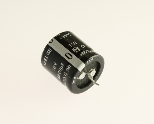 Picture of ECES1CU682J PANASONIC capacitor 6,800uF 16V Aluminum Electrolytic Snap In