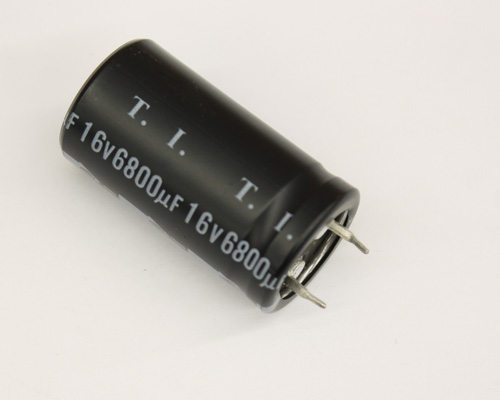 Picture of CEFTW1C682N TECATE capacitor 6,800uF 16V Aluminum Electrolytic Snap In