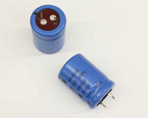 Picture of 80D562P025JC SPRAGUE capacitor 5,600uF 25V Aluminum Electrolytic Snap In