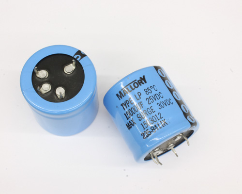 Picture of LP153M025 MALLORY capacitor 15,000uF 25V Aluminum Electrolytic Snap In