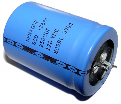 Picture of 80D252M120ME2D SPRAGUE capacitor 2,500uF 120V Aluminum Electrolytic Snap In
