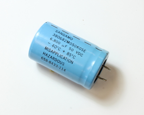 Picture of 380682M050K05E SANG-CDE capacitor 6,800uF 50V Aluminum Electrolytic Snap In