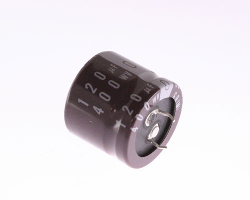 Picture of LGQ2G121MHSB NICHICON capacitor 120uF 400V Aluminum Electrolytic Snap In High Temp