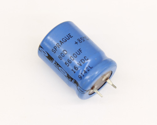 Picture of 80D562P016HB5D SPRAGUE capacitor 5,600uF 16V Aluminum Electrolytic Snap In