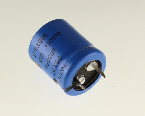 Picture of 81D562M010HA2 SPRAGUE capacitor 5,600uF 10V Aluminum Electrolytic Snap In High Temp
