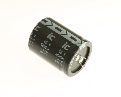 Picture of 688LBA080M2EG ILLINOIS CAPACITOR capacitor 6,800uF 80V Aluminum Electrolytic Snap In