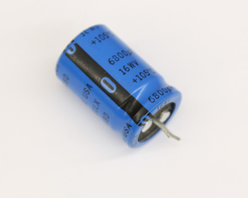 Picture of 381LX682M016G022 SANG-CDE capacitor 6,800uF 16V Aluminum Electrolytic Snap In High Temp