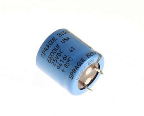 Picture of 82DA682M025JA5D SPRAGUE capacitor 6,800uF 25V Aluminum Electrolytic Snap In