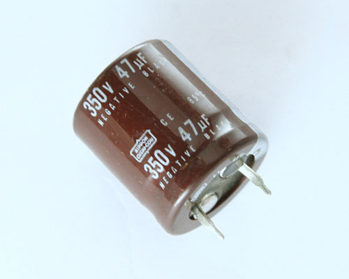 Picture of SMH350VN47M UCC capacitor 47uF 350V Aluminum Electrolytic Snap In