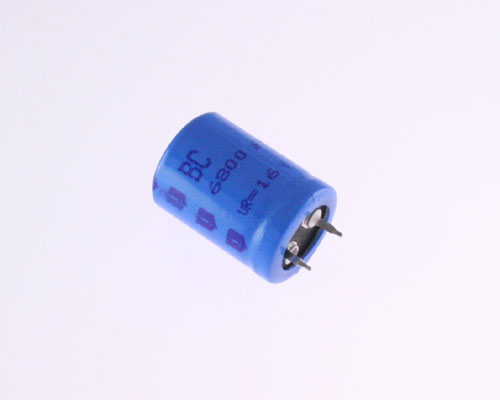 Picture of 2222-056-55682 BC COMPONENTS capacitor 6,800uF 16V Aluminum Electrolytic Snap In