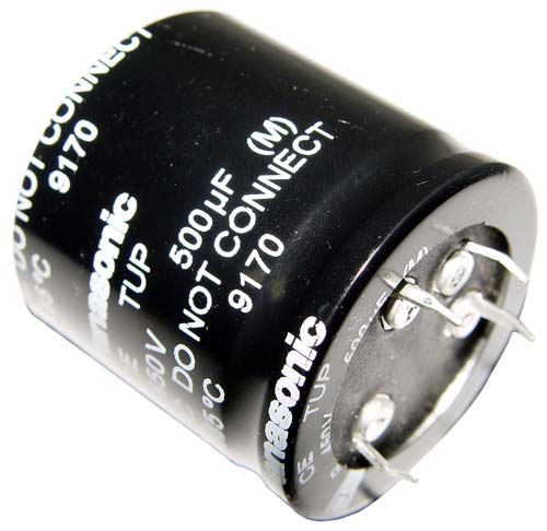 Picture of ECET2WP501FA Panasonic capacitor 500uF 450V Aluminum Electrolytic Snap In