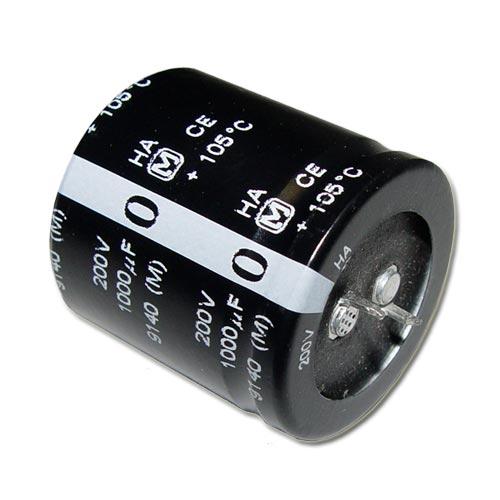 Picture of ECEC2DA102EA PANASONIC capacitor 1,000uF 200V Aluminum Electrolytic Snap In High Temp