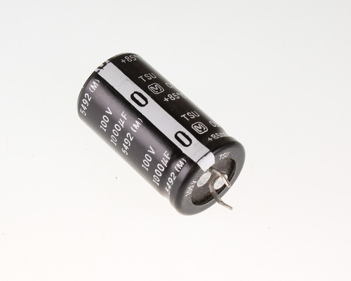 Picture of ECES2AU102G PANASONIC capacitor 1,000uF 100V Aluminum Electrolytic Snap In