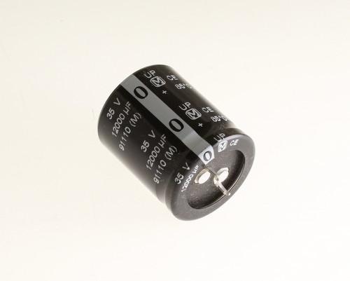 Picture of ECEC1VP123DA PANASONIC capacitor 12,000uF 35V Aluminum Electrolytic Snap In