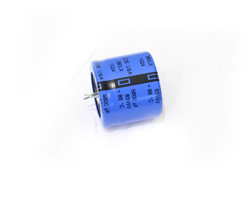 Picture of 380LX562M063A022 CDE capacitor 5,600uF 63V Aluminum Electrolytic Snap In