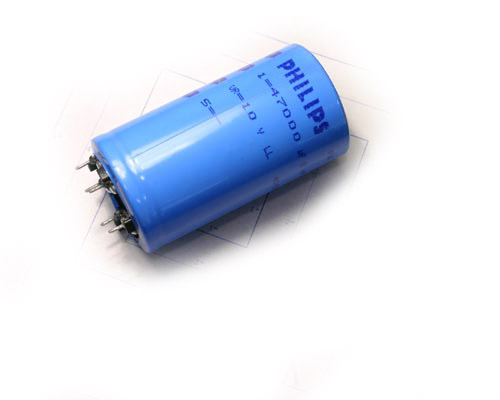 Picture of 2222-050-54473 PHILIPS capacitor 47,000uF 10V Aluminum Electrolytic Snap In