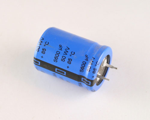 Picture of 380LX562M050J032 CDE capacitor 5,600uF 50V Aluminum Electrolytic Snap In