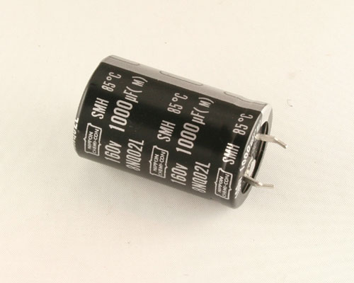 Picture of SMH160VN102M25X40T2 UNITED CHEMICON capacitor 1,000uF 160V Aluminum Electrolytic Snap In