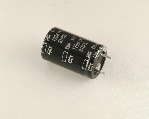 Picture of SMH400VN121M22X35T2 UNITED CHEMICON capacitor 120uF 400V Aluminum Electrolytic Snap In