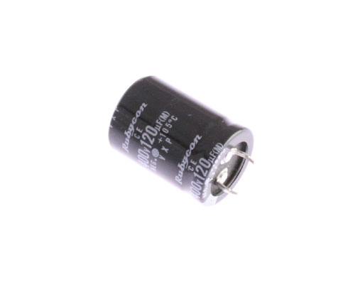 Picture of 400VXP120M RUBYCON capacitor 120uF 400V Aluminum Electrolytic Snap In High Temp
