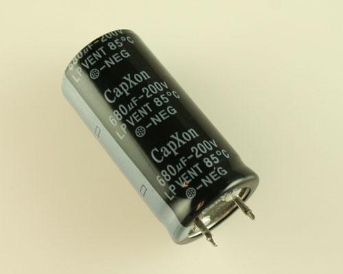 CAP ALUM 680UF 20/% 220V SNAP