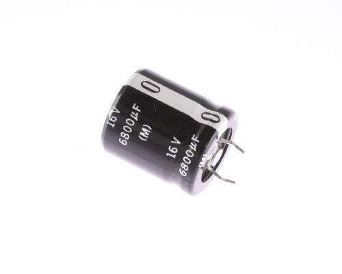 Picture of ECOS1CA682BG PANASONIC capacitor 6,800uF 16V Aluminum Electrolytic Snap In High Temp