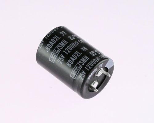 Picture of ESMH250VSN123MQ35T UCC capacitor 12,000uF 25V Aluminum Electrolytic Snap In
