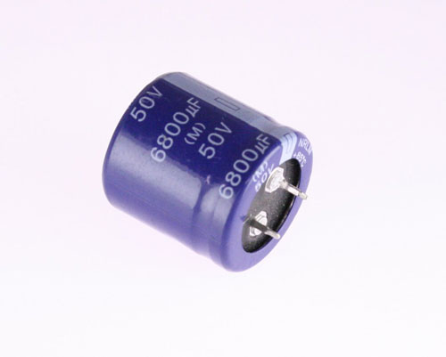 Picture of NRLM682M050V30X30 NIC capacitor 6,800uF 50V Aluminum Electrolytic Snap In