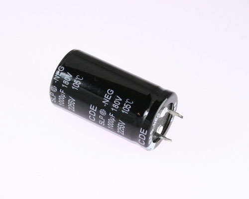 Picture of SLP102M180C4P3 Cornell Dubilier (CDE) capacitor 1,000uF 180V Aluminum Electrolytic Snap In