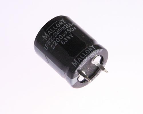 Lpw222m1hn25v W Mallory Capacitor 2 200uf 50v Aluminum