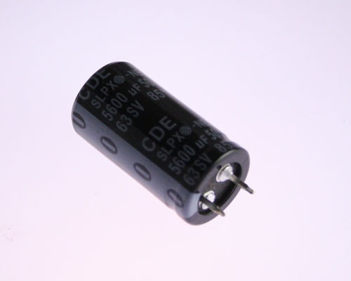 Picture of SLPX562M050A7P3 CDE capacitor 5,600uF 50V Aluminum Electrolytic Snap In