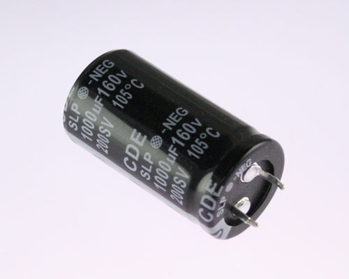 Picture of SLP102M160C4P3 CDE capacitor 1,000uF 160V Aluminum Electrolytic Snap In