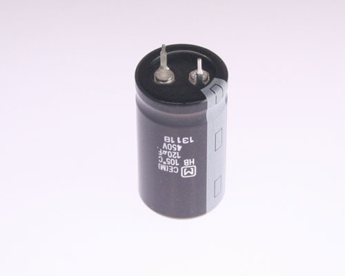 Picture of ECOS2WB121BA PANASONIC capacitor 120uF 450V Aluminum Electrolytic Snap In