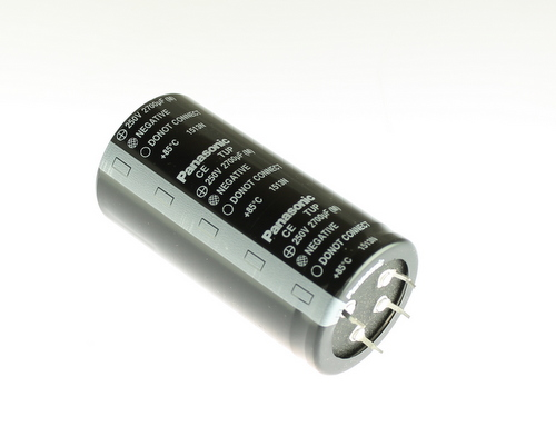 Picture of ECET2EP272FA Panasonic capacitor 2,700uF 250V Aluminum Electrolytic Snap In