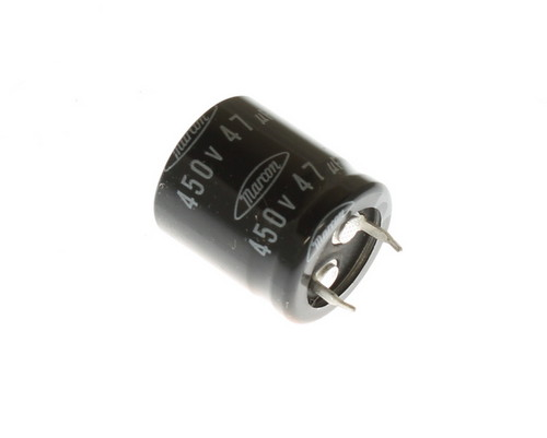 Picture of CAUF2W470M10 Marcon capacitor 47uF 450V Aluminum Electrolytic Snap In High Temp