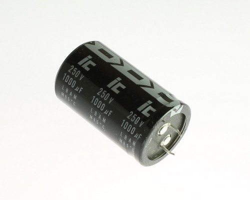 Picture of 108LBA250MD2H Illinois Capacitor capacitor 1,000uF 250V Aluminum Electrolytic Snap In
