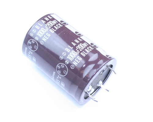 Picture of LPP2D102MHSAEZ NICHICON capacitor 1,000uF 200V Aluminum Electrolytic Snap In High Temp