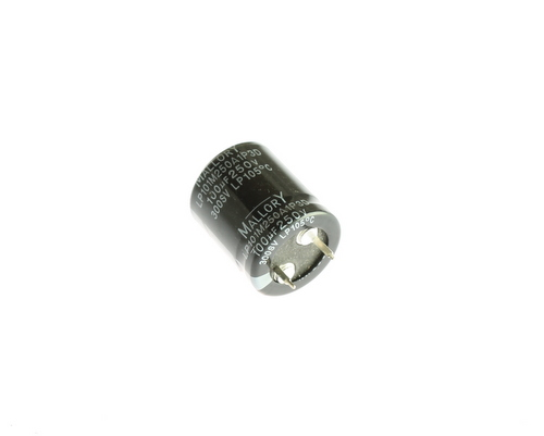 Picture of LP101M250A1P3D Mallory capacitor 100uF 250V Aluminum Electrolytic Snap In High Temp