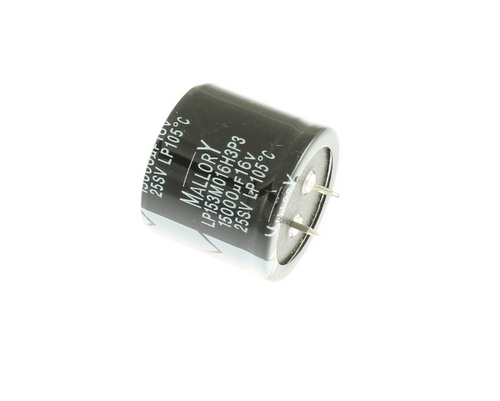 Picture of LP153M016H3P3 MALLORY capacitor 15,000uF 16V Aluminum Electrolytic Snap In High Temp
