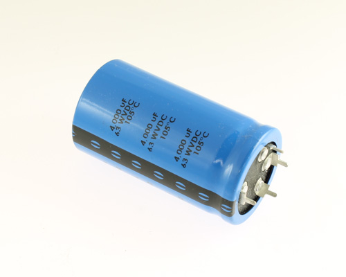 Picture of 383LX402M063A062 Cornell Dubilier (CDE) capacitor 4,000uF 63V Aluminum Electrolytic Snap In High Temp