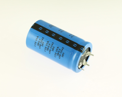 Picture of 383L402M063A062 CORNELL DUBILIER (CDE) capacitor 4,000uF 63V Aluminum Electrolytic Snap In High Temp