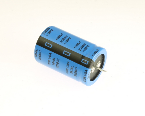 Picture of 381EL102M200K452 Cornell Dubilier (CDE) capacitor 1,000uF 200V Aluminum Electrolytic Snap In High Temp