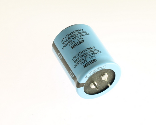 Picture of LPX122M250H4P3 MALLORY capacitor 1,200uF 250V Aluminum Electrolytic Snap In