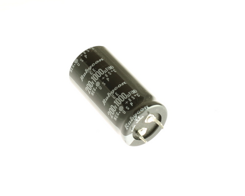 Picture of 200USP1000M25X50 Rubycon capacitor 1,000uF 200V Aluminum Electrolytic Snap In
