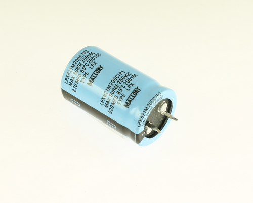 Picture of LPX821M200C7P3 Mallory capacitor 820uF 200V Aluminum Electrolytic Snap In