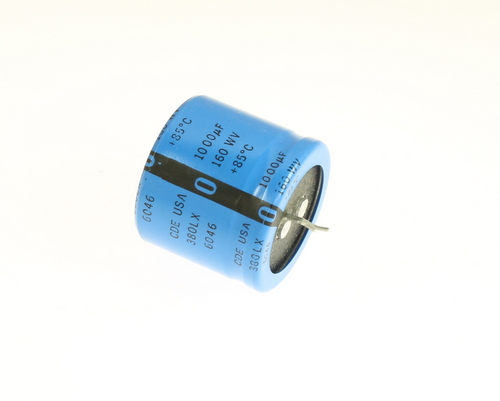 Picture of 380LX102M160A022 Cornell Dubilier (CDE) capacitor 1,000uF 160V Aluminum Electrolytic Snap In